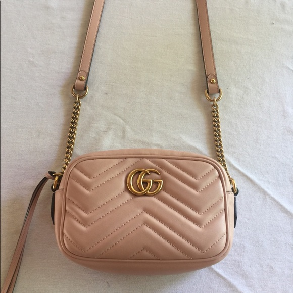 7330faa6300ad Gucci Handbags - Authentic Gucci mini marmont matelasse camera bag.